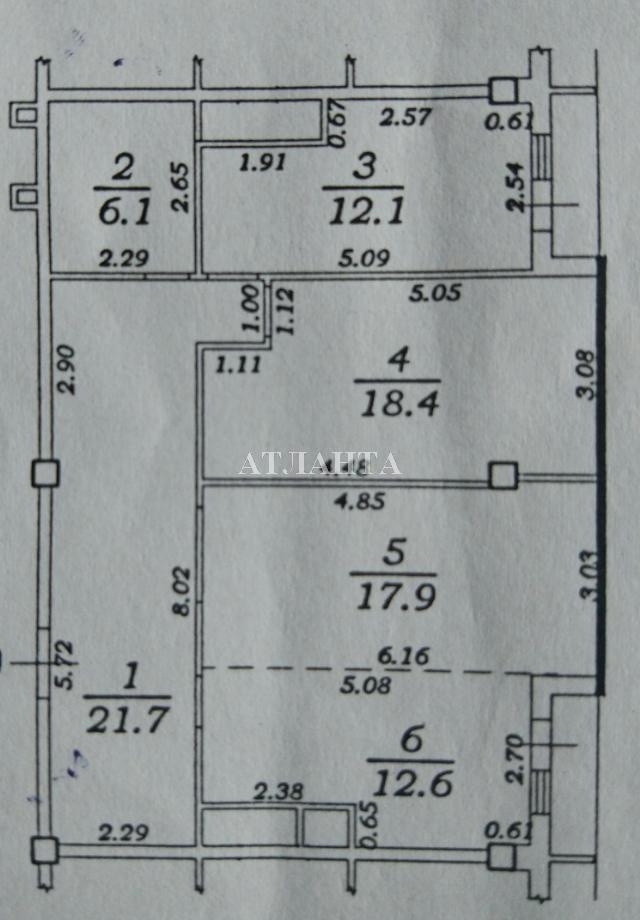 Продается 3-комнатная квартира на ул. Жемчужная — 75 000 у.е.
