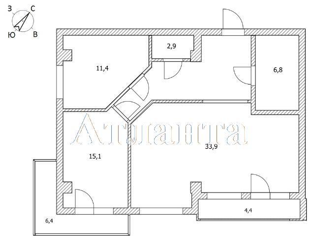 Продается 2-комнатная квартира в новострое на ул. Пишоновская — 90 000 у.е. (фото №11)