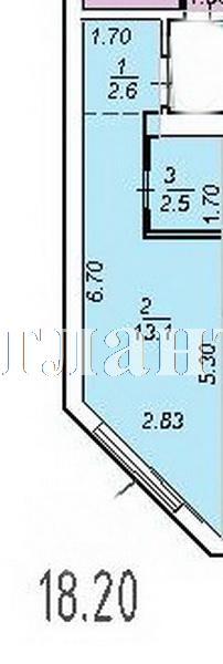 Продается 1-комнатная квартира в новострое на ул. Центральная — 17 010 у.е. (фото №2)