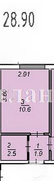 Продается 1-комнатная квартира в новострое на ул. Центральная — 27 010 у.е. (фото №2)