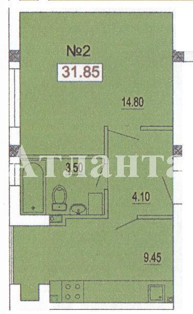 Продается 1-комнатная квартира в новострое на ул. Педагогическая — 22 300 у.е. (фото №2)