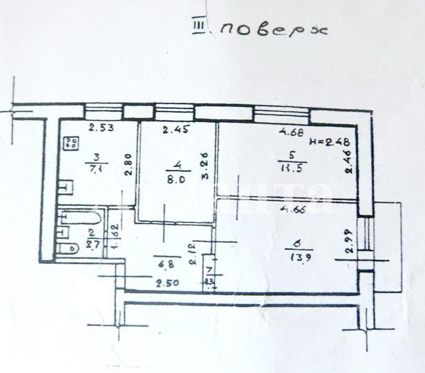 Продается 3-комнатная квартира на ул. Фонтанская Дор. — 50 000 у.е. (фото №6)