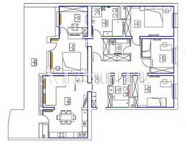 Продается 4-комнатная квартира в новострое на ул. Аркадиевский Пер. — 380 000 у.е. (фото №10)