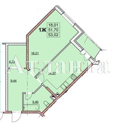 Продается 1-комнатная квартира в новострое на ул. Гагаринское Плато — 58 000 у.е. (фото №2)