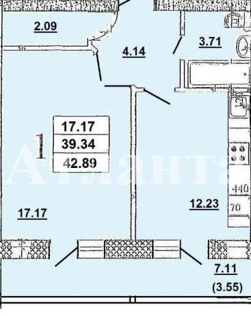 Продается 1-комнатная квартира в новострое на ул. Заболотного Ак. — 31 000 у.е. (фото №2)