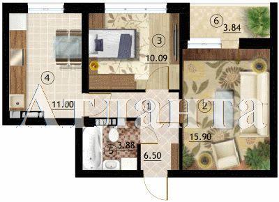 Продается 2-комнатная квартира на ул. Марсельская — 34 000 у.е.