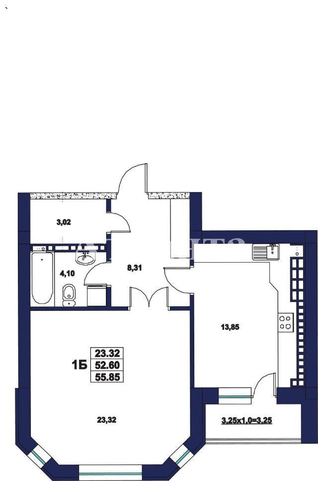 Продается 1-комнатная квартира на ул. Миланская — 54 000 у.е. (фото №2)