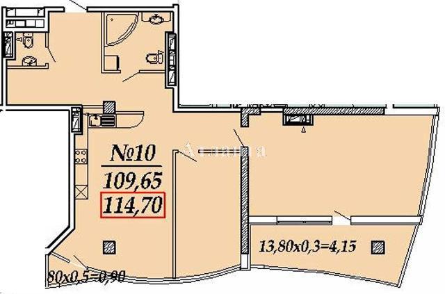 Продается 2-комнатная квартира в новострое на ул. Ванный Пер. — 183 800 у.е.