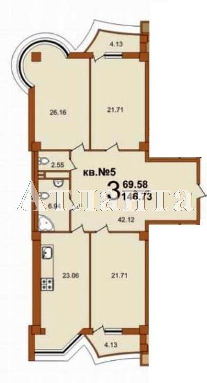 Продается 3-комнатная квартира в новострое на ул. Жуковского — 153 620 у.е.