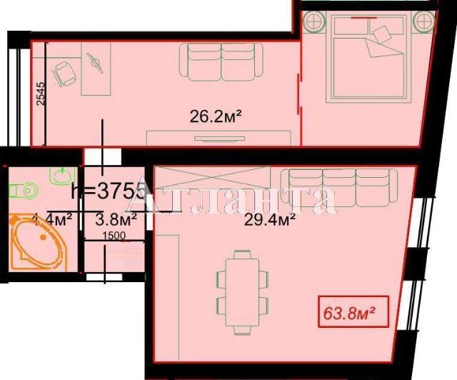 Продается 1-комнатная квартира на ул. Гоголя — 80 000 у.е.