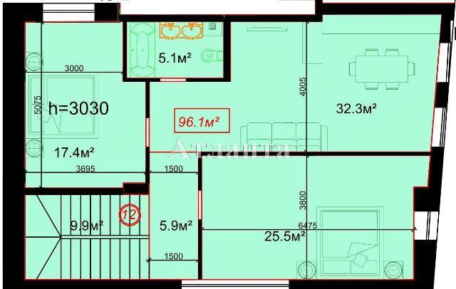 Продается 2-комнатная квартира на ул. Гоголя — 127 780 у.е.