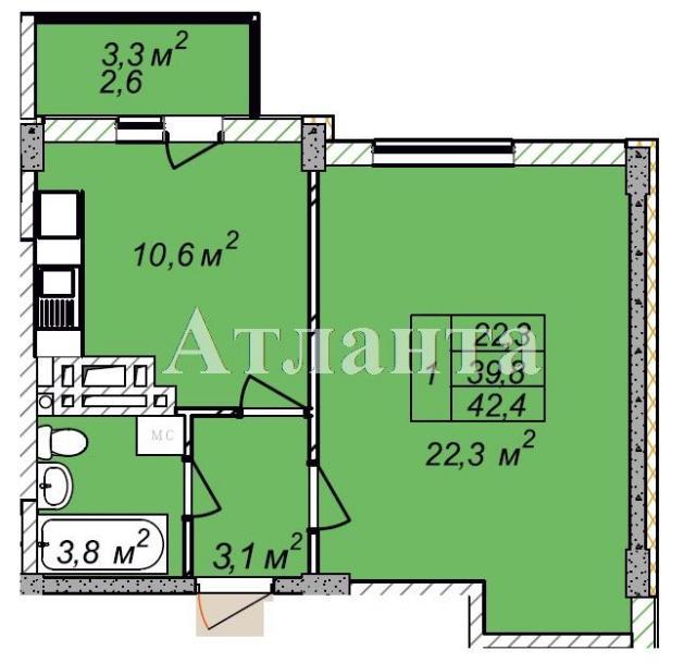 Продается 1-комнатная квартира в новострое на ул. Рихтера Святослава — 23 750 у.е. (фото №4)