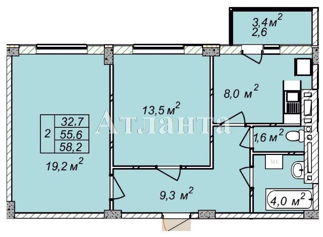 Продается 2-комнатная квартира в новострое на ул. Рихтера Святослава — 35 800 у.е. (фото №4)
