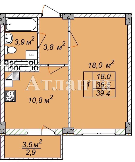 Продается 1-комнатная квартира в новострое на ул. Рихтера Святослава — 20 890 у.е.