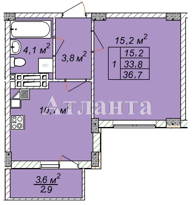 Продается 1-комнатная квартира в новострое на ул. Рихтера Святослава — 21 330 у.е.