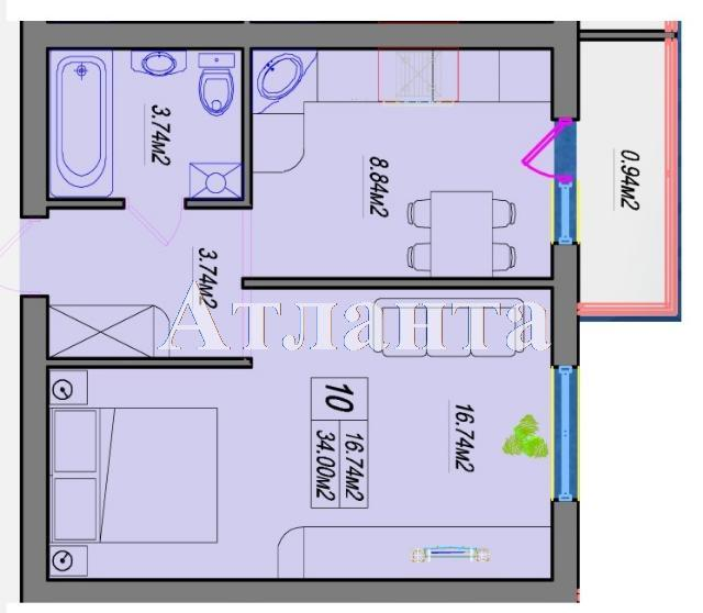 Продается 1-комнатная квартира в новострое на ул. Швыгина Ген. — 27 200 у.е. (фото №3)