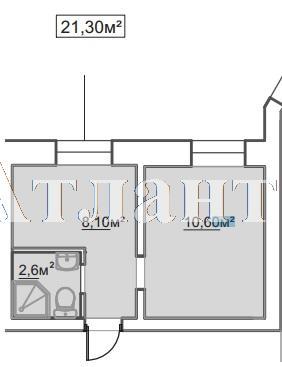 Продается 1-комнатная квартира в новострое на ул. Пересыпская 7-Я — 13 870 у.е.