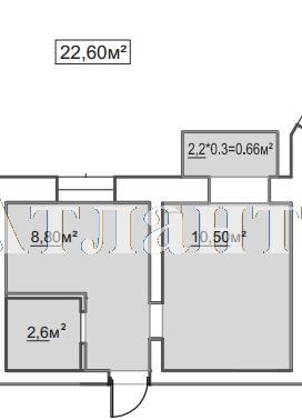Продается 1-комнатная квартира в новострое на ул. Пересыпская 7-Я — 15 370 у.е.