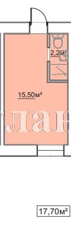 Продается 1-комнатная квартира в новострое на ул. Пересыпская 7-Я — 12 210 у.е.