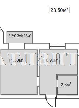 Продается 1-комнатная квартира в новострое на ул. Пересыпская 7-Я — 15 980 у.е.