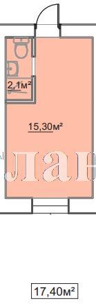 Продается 1-комнатная квартира в новострое на ул. Пересыпская 7-Я — 11 960 у.е.