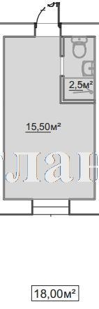 Продается 1-комнатная квартира в новострое на ул. Пересыпская 7-Я — 12 420 у.е.