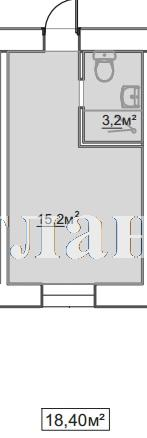 Продается 1-комнатная квартира в новострое на ул. Пересыпская 7-Я — 12 600 у.е.