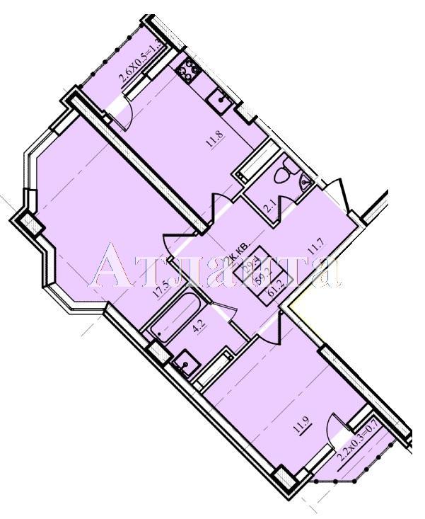 Продается 2-комнатная квартира в новострое на ул. Проценко — 39 200 у.е.