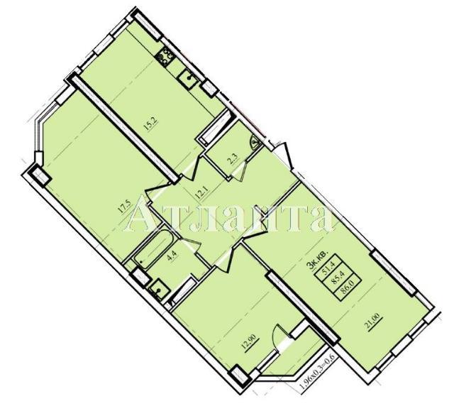 Продается 3-комнатная квартира в новострое на ул. Проценко — 51 160 у.е.