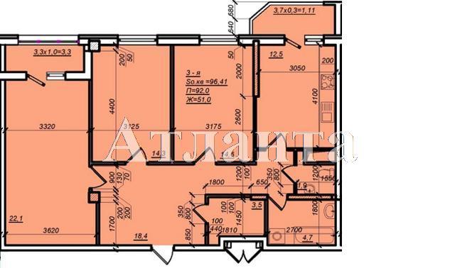 Продается 3-комнатная квартира в новострое на ул. Дюковская — 67 230 у.е. (фото №5)