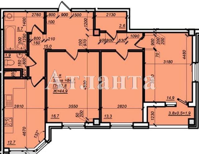 Продается 3-комнатная квартира в новострое на ул. Дюковская — 59 070 у.е.