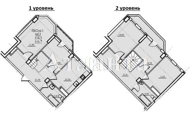 Продается Многоуровневая квартира в новострое на ул. Проценко — 68 950 у.е.
