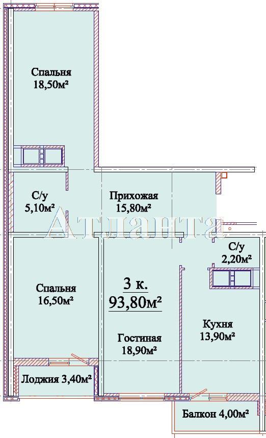 Продается 3-комнатная квартира в новострое на ул. Михайловская — 59 710 у.е.