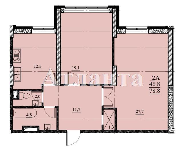 Продается 2-комнатная квартира в новострое на ул. Французский Бул. — 91 200 у.е. (фото №3)