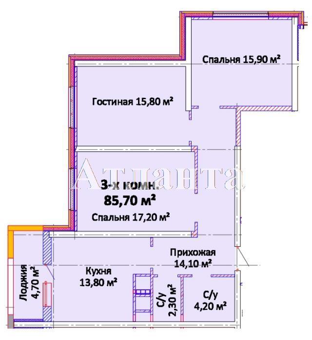Продается 3-комнатная квартира в новострое на ул. Канатная — 62 470 у.е.