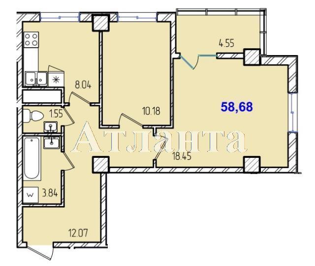 Продается 2-комнатная квартира в новострое на ул. Жм Дружный — 33 650 у.е.