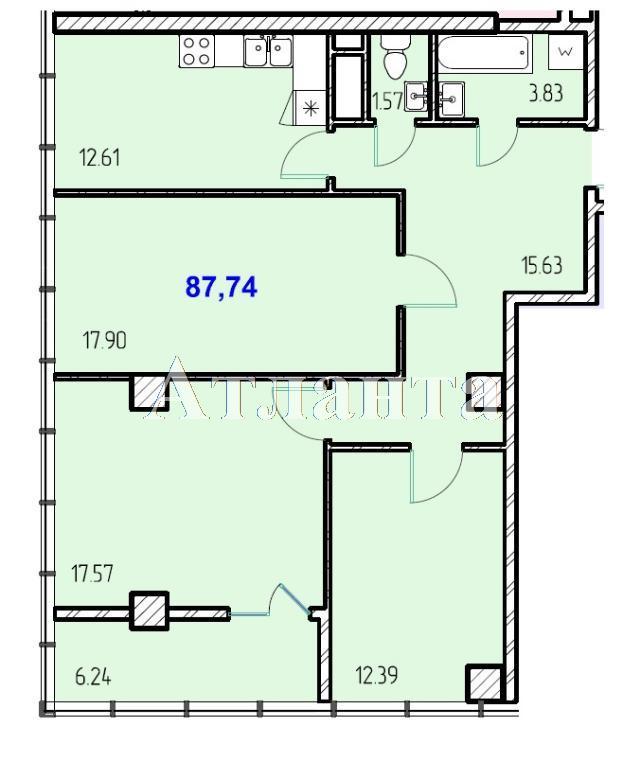 Продается 3-комнатная квартира в новострое на ул. Жм Дружный — 51 500 у.е.