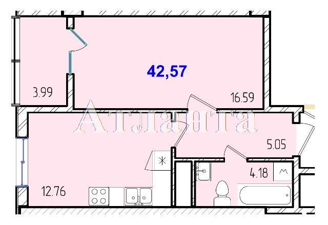 Продается 1-комнатная квартира в новострое на ул. Жм Дружный — 24 820 у.е.