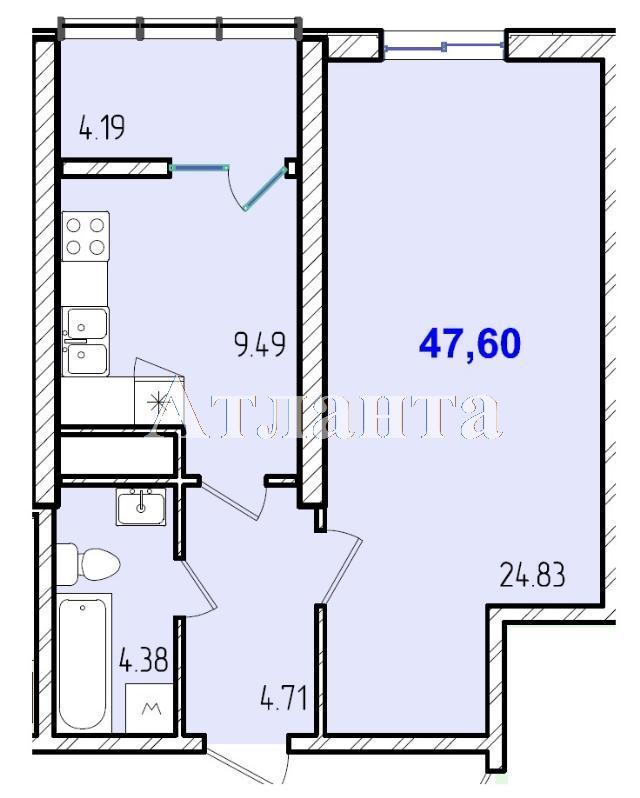 Продается 1-комнатная квартира в новострое на ул. Жм Дружный — 29 180 у.е.