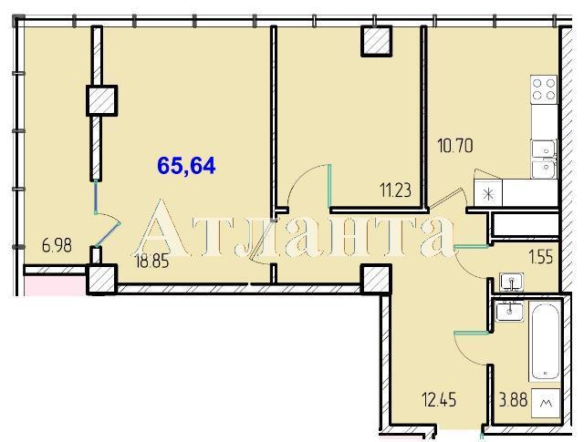 Продается 2-комнатная квартира в новострое на ул. Жм Дружный — 39 800 у.е.