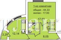 Продается 1-комнатная квартира в новострое на ул. Педагогическая — 45 550 у.е.