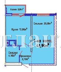 Продается 1-комнатная квартира в новострое на ул. Люстдорфская Дорога — 32 960 у.е. (фото №3)
