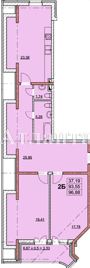 Продается 2-комнатная квартира в новострое на ул. Гагаринское Плато — 104 170 у.е.