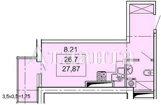 Продается 1-комнатная квартира в новострое на ул. Педагогическая — 27 500 у.е.