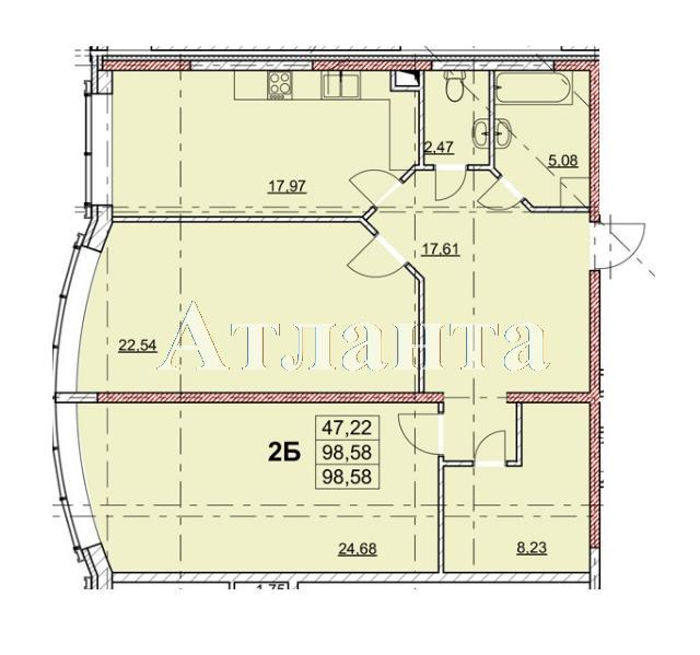 Продается 2-комнатная квартира в новострое на ул. Гагаринское Плато — 108 460 у.е.