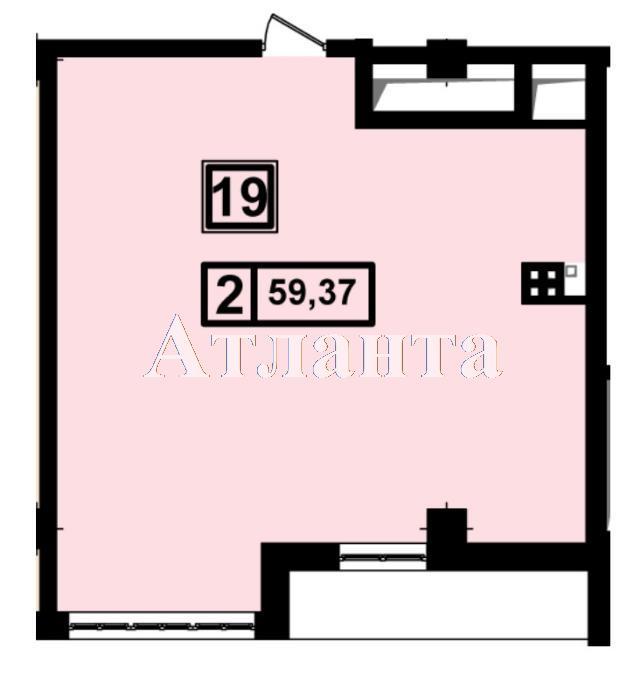 Продается 1-комнатная квартира в новострое на ул. Генуэзская — 55 800 у.е.