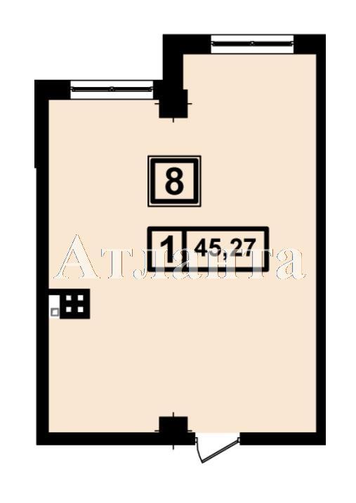 Продается 1-комнатная квартира в новострое на ул. Генуэзская — 42 550 у.е. (фото №3)