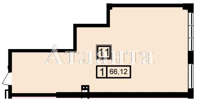 Продается 1-комнатная квартира в новострое на ул. Генуэзская — 62 150 у.е. (фото №3)