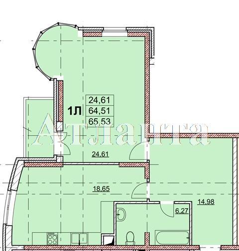 Продается 1-комнатная квартира в новострое на ул. Гагаринское Плато — 67 900 у.е. (фото №4)