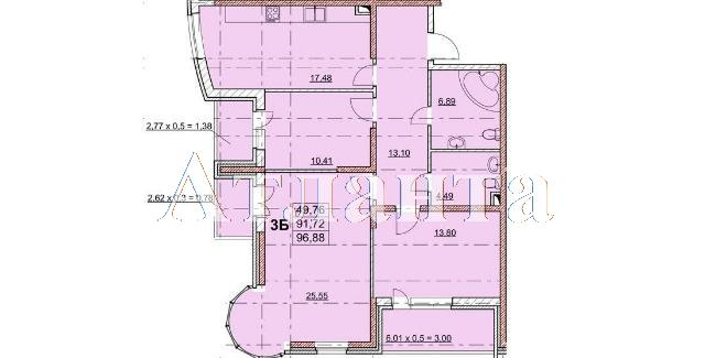 Продается 3-комнатная квартира в новострое на ул. Гагаринское Плато — 99 550 у.е.